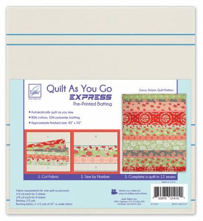 Quilt As You Go Express - Savvy Stripes