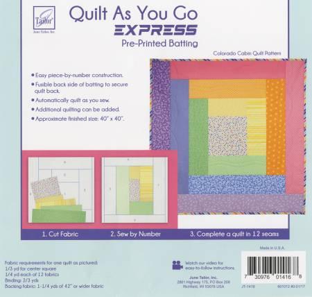 Quilt As You Go Express Colorado Cabin