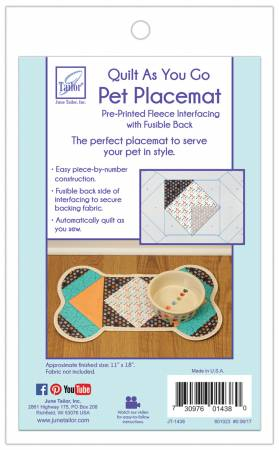 Quilt As You Go Pet Placemat Dogs