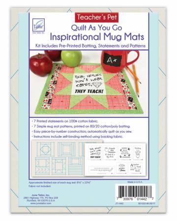 Quilt As You Go Mug Mats Teachers Pet