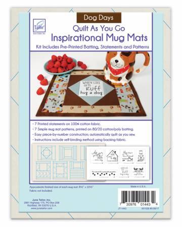 Quilt As You Go Mug Mats Dog Days