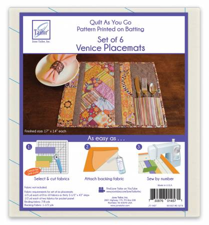 Quilt As You Go Venice Placemat