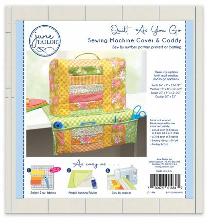 QUILT AS YOU GO SEWING MACHINE COVER & CADDY JT-1484
