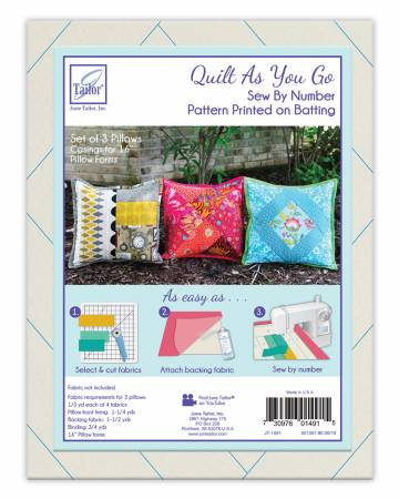 June Tailor, Inc. Quilt As You Go Pillow Cover 3 pk