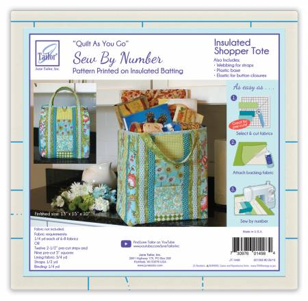 Quilt As You Go Insulated Shoppers Tote