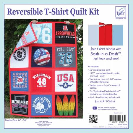 Reversible T-Shirt Quilt Kit Red Sash-In-A-Dash