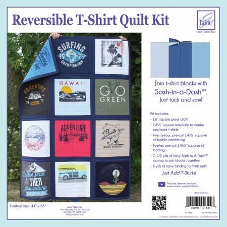 **Reversible T-Shirt Quilt Kit Navy Sash-In-A-Dash