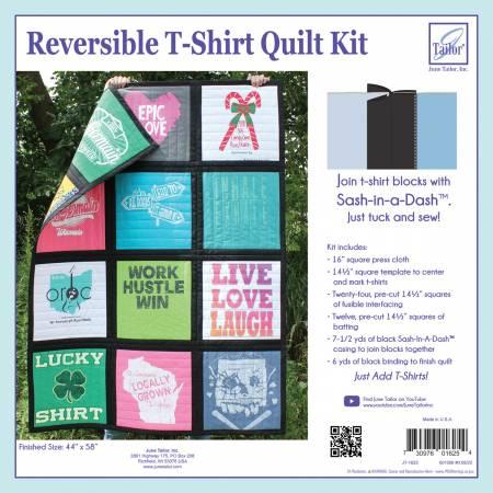 **Reversible T-Shirt Quilt Kit Black Sash-In-A-Dash