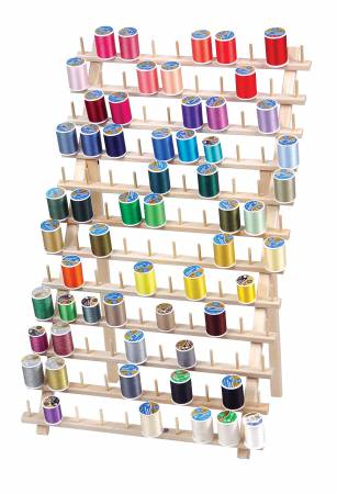 Mega-Rak II Wooden Thread 120 Spool Rack with Legs