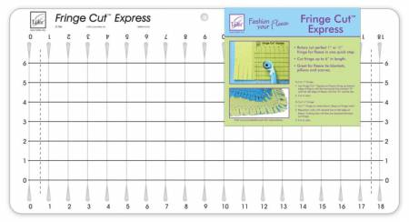 Fringe Cut Express Template 1in to 6in