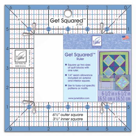 Get Squared Ruler 6 1/2in Outer, 3 1/2in Inner