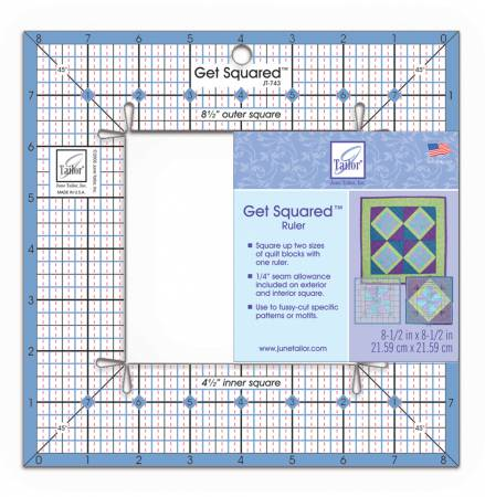 June Taylor Get Squared Ruler  8 1/2in Outer, 4 1/2in Inner