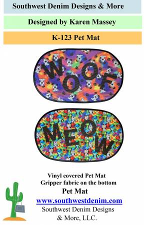 Pet Mat Pattern with Letters