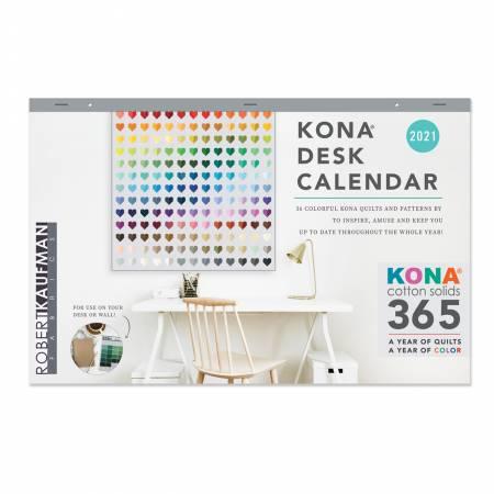 Kona Cotton Solids 2021 Desk Calendar *Pre-Order for October*