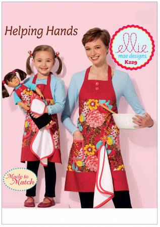 Helping Hands Misses', Girls' and 18in Doll Aprons with Detachable Towel