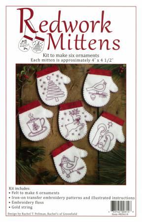 Redwork Mittens Kit