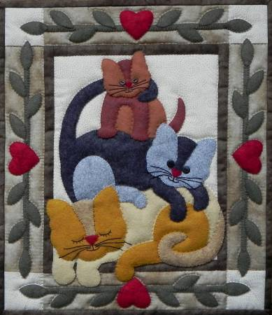 Cat Stack Wall Quilt KO712