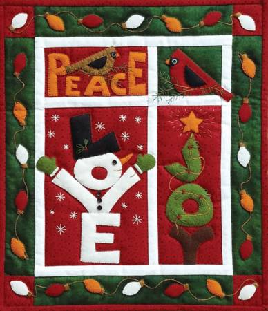 LOVE JOY PEACE Wall Quilt Kit K0717