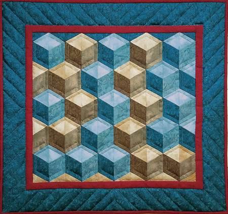 Tumbling Blocks Wall Quilt Kit -1017