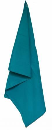 Teal Tea Towel Plain Weave Solid