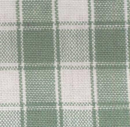 TEA TOWEL HOUSE CHECK LIGHT GREEN/WHITE K314 LG