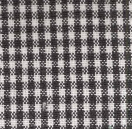 Tea Towel Mini Check Black/White