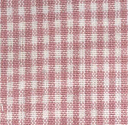 Tea Towel Mini Check Rose/White