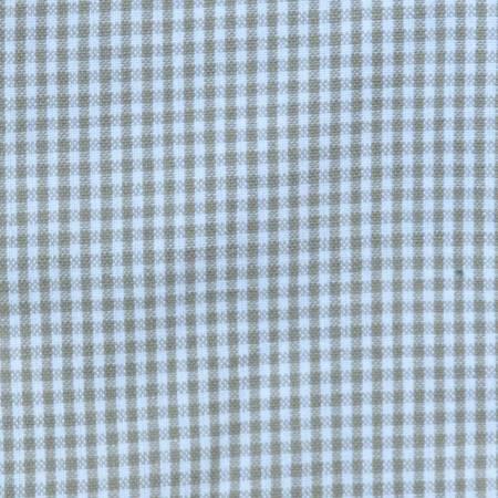 Tea Towel Mini Check Taupe/ White