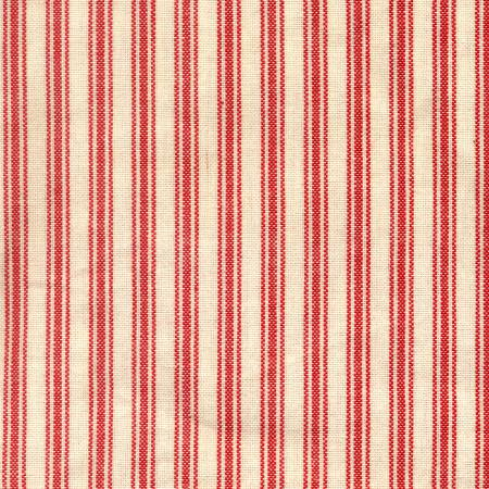 Tea Towel - Cream Ticking with Red Stripe