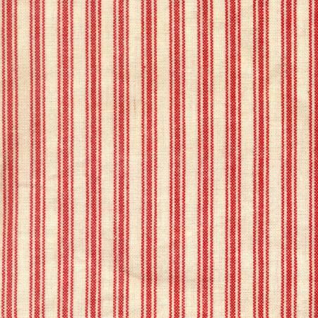 Tea Towel Ticking Stripe Red/Cream