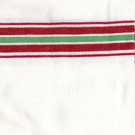 Tea Towel Carolina Stripe Red/Green/White