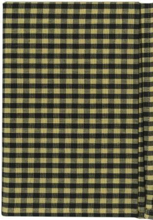 Tea Towel Country Plaid Black/Dijon