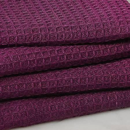 Tea Towel Waffle Weave - College Purple