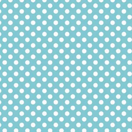 Knit - Small Dots Aqua