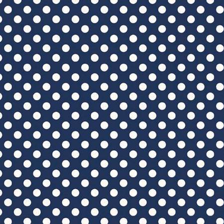 Knit Small Dot Navy