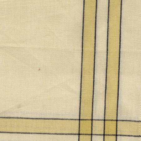 Tea Towel Dijon Cream with Black Stripe by Dunroven House