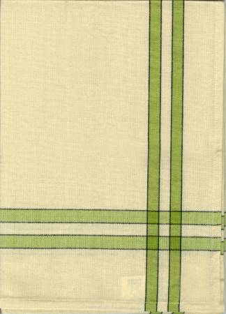 Tea Towel Lime Green/Cream w/Black Stripe by Dunroven House
