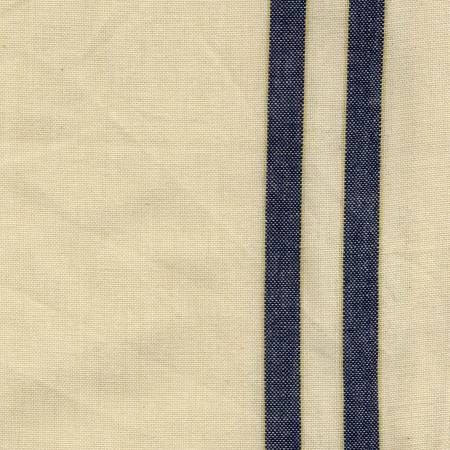 Tea Towel Navy Cream with Dijon Stripe by Dunroven House