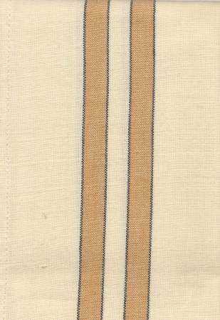 Tea Towel Pumpkin/Cream w/Black Stripe