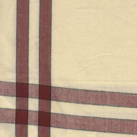 Tea Towel Red/Cream with Black Stripe