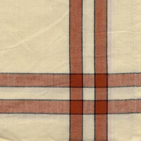 Tea Towel Terra Cotta and Cream With Black Accent Stripe