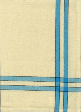 Tea Towel Turquoise and Cream with Black Stripe by Dunroven House