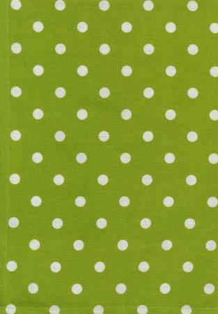 Tea Towel - Lime Green with White Polka Dots