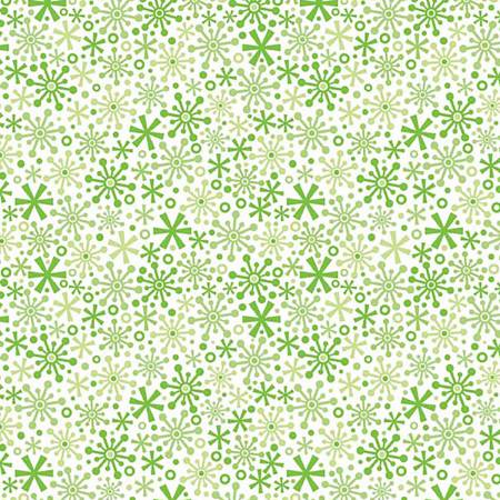 Holidays Flakes Green in Knit