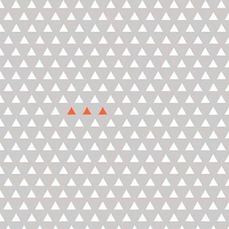 Four Corners Triangle Gray Knit