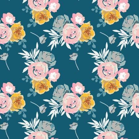 Designer Knits Blooms Main Blue