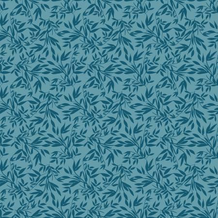 Designer Knits Blooms Leaves Blue