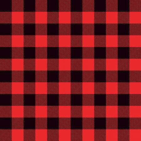 Designer Knits Lumberjack Plaid Black Red