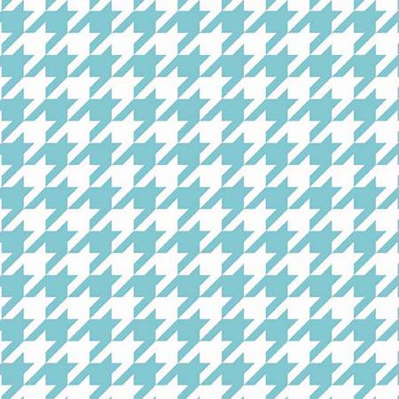 Houndstooth Aqua in Knit