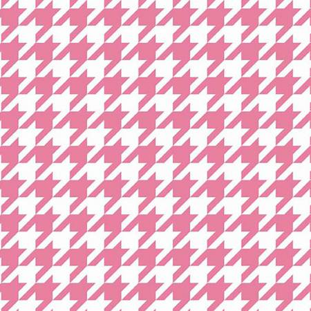 Houndstooth Hot Pink in Knit